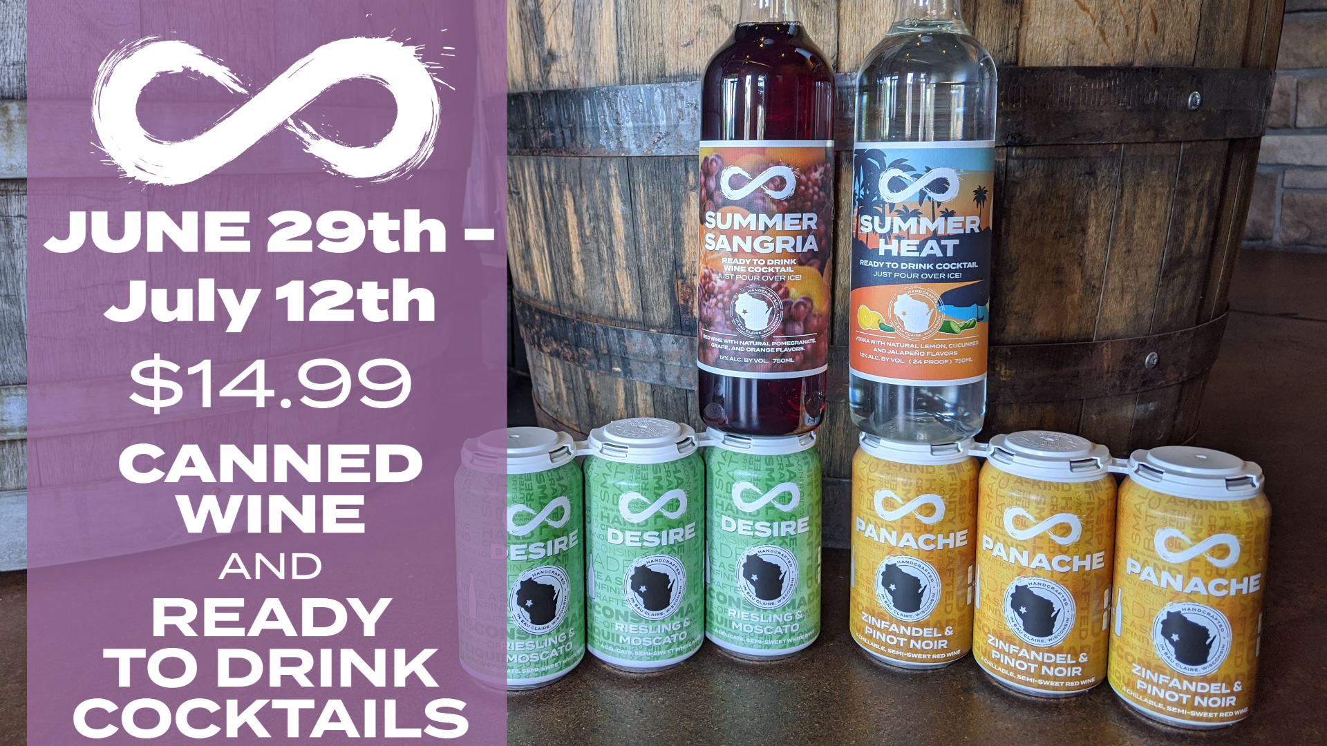$14.99 CANNED WINE & READY TO DRINK COCKTAILS